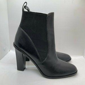 Via Spiga Womens Black Leather Chelsea Boots